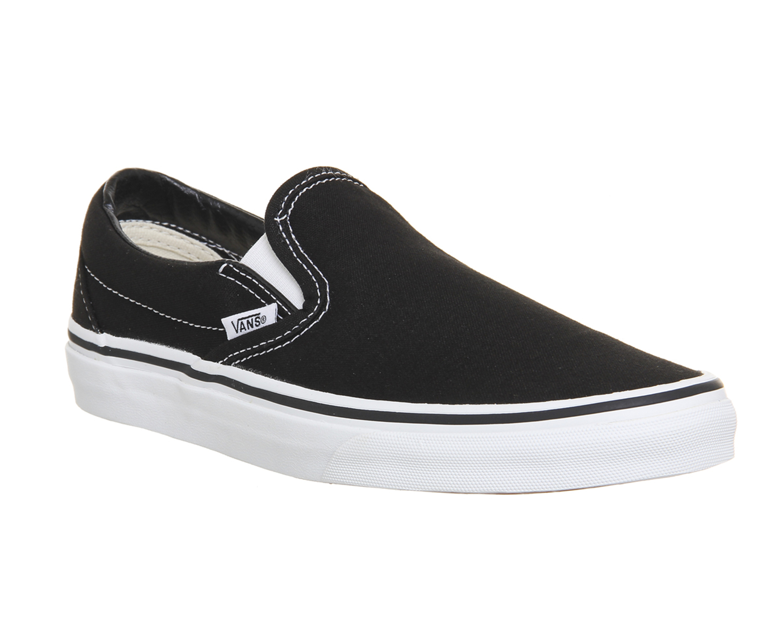 mens vans classic slip on shoes black white trainers shoes. Black Bedroom Furniture Sets. Home Design Ideas