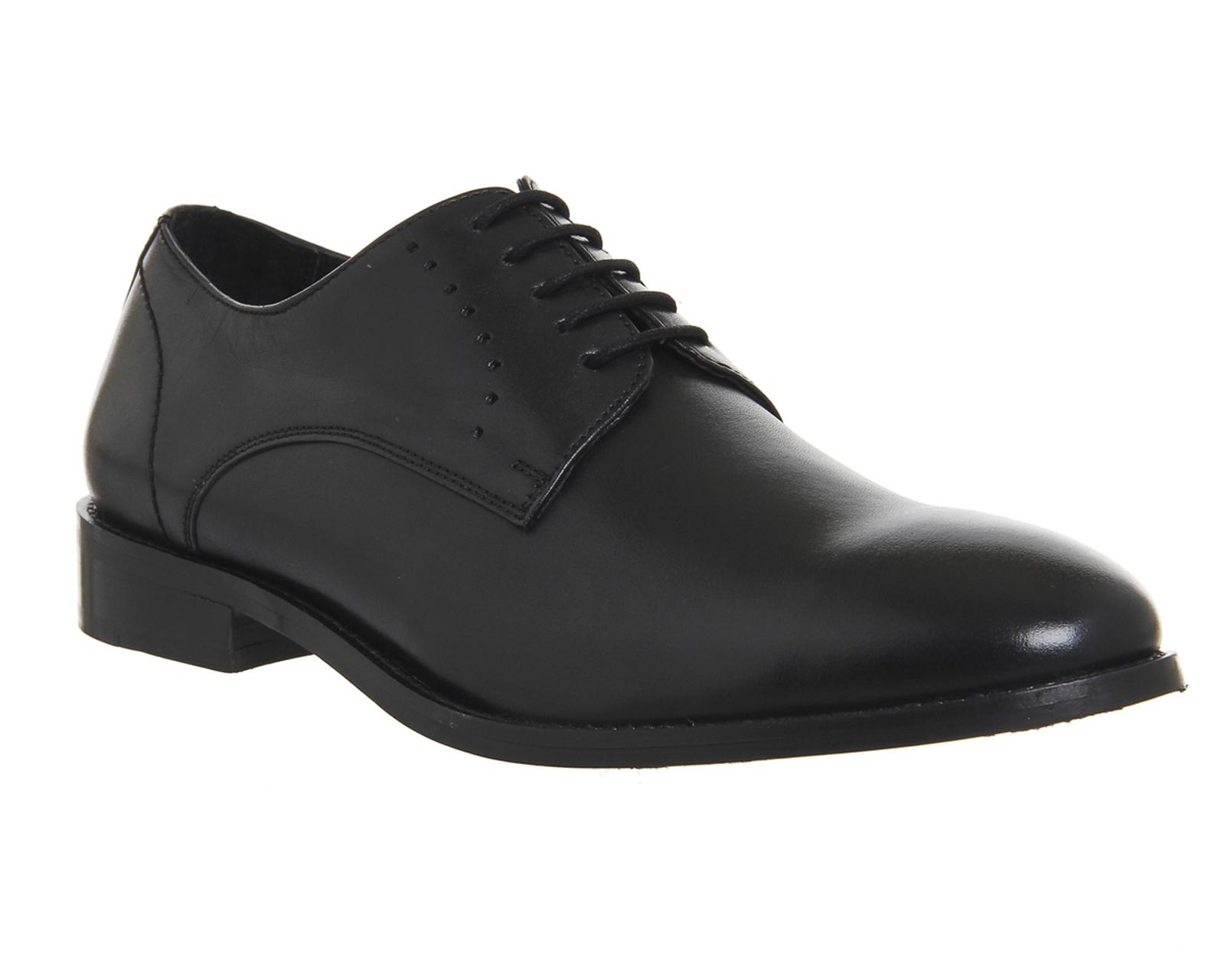details about mens office envy plain toe black leather formal shoes