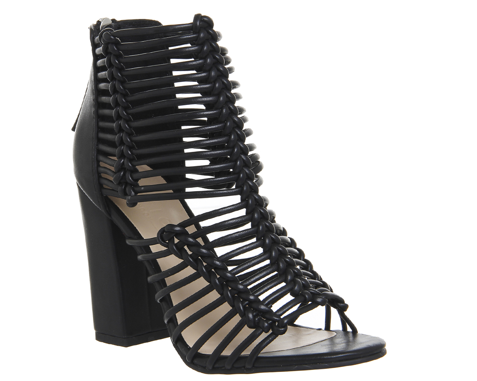 Womens-Office-Advocate-Strappy-Shoe-Boots-BLACK-Heels