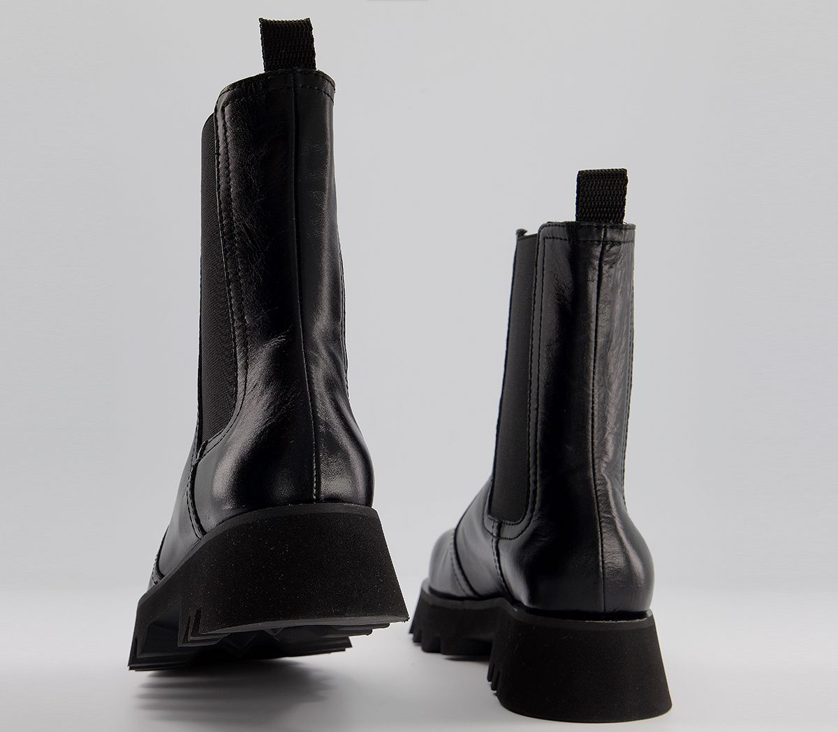 Womens Office Avidity Chelsea Boots Black Leather Boots