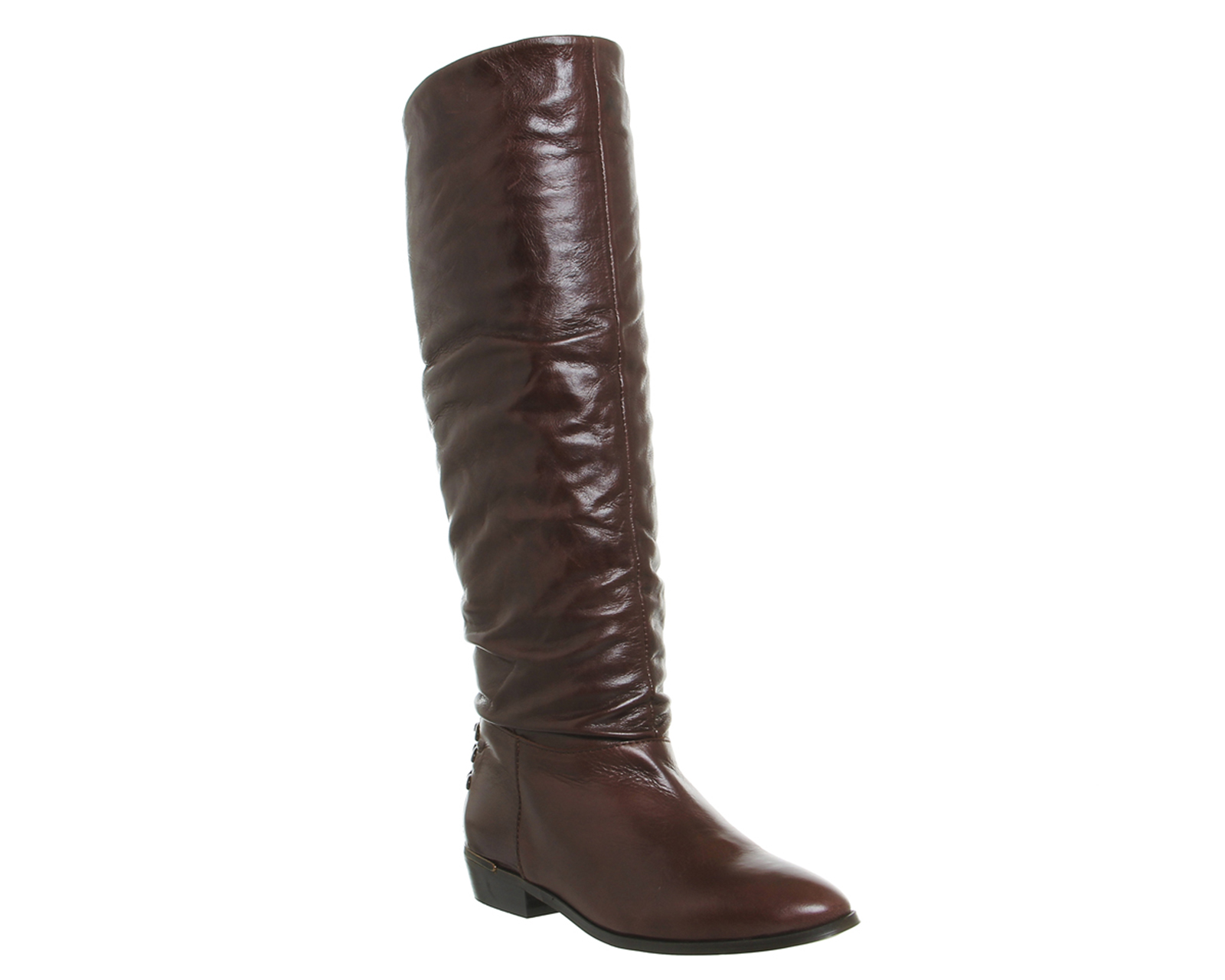 womens office kyle slouch knee boots brown leather boots
