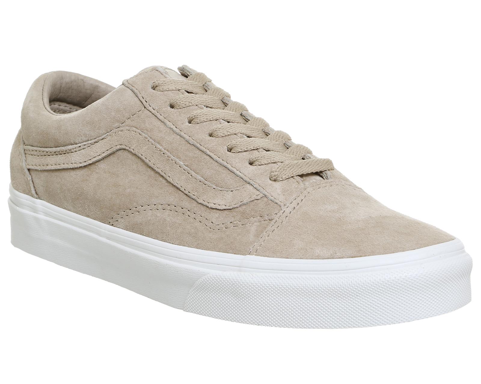 mens vans old skool hummus suede true white trainers shoes. Black Bedroom Furniture Sets. Home Design Ideas