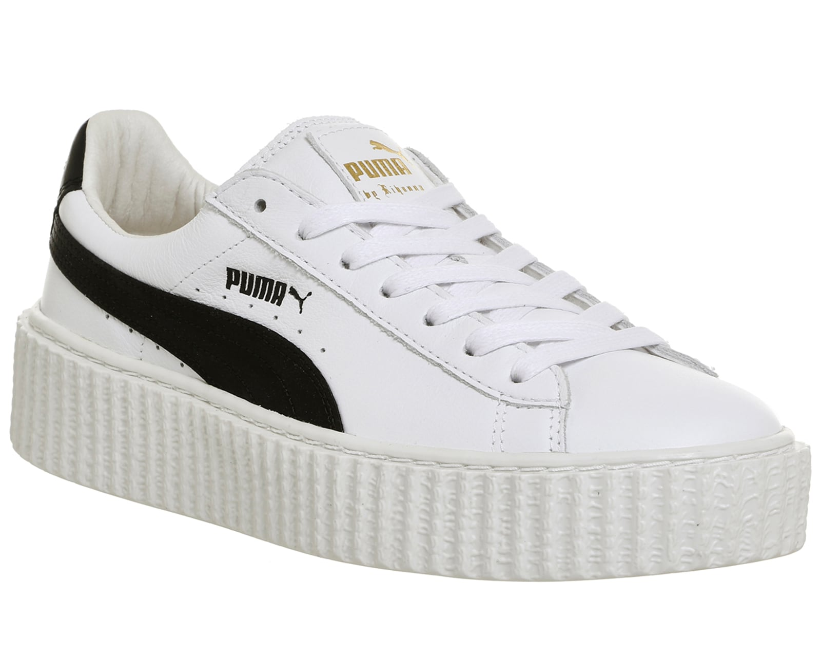 womens puma basket creepers white black leather fenty trainers shoes ebay. Black Bedroom Furniture Sets. Home Design Ideas