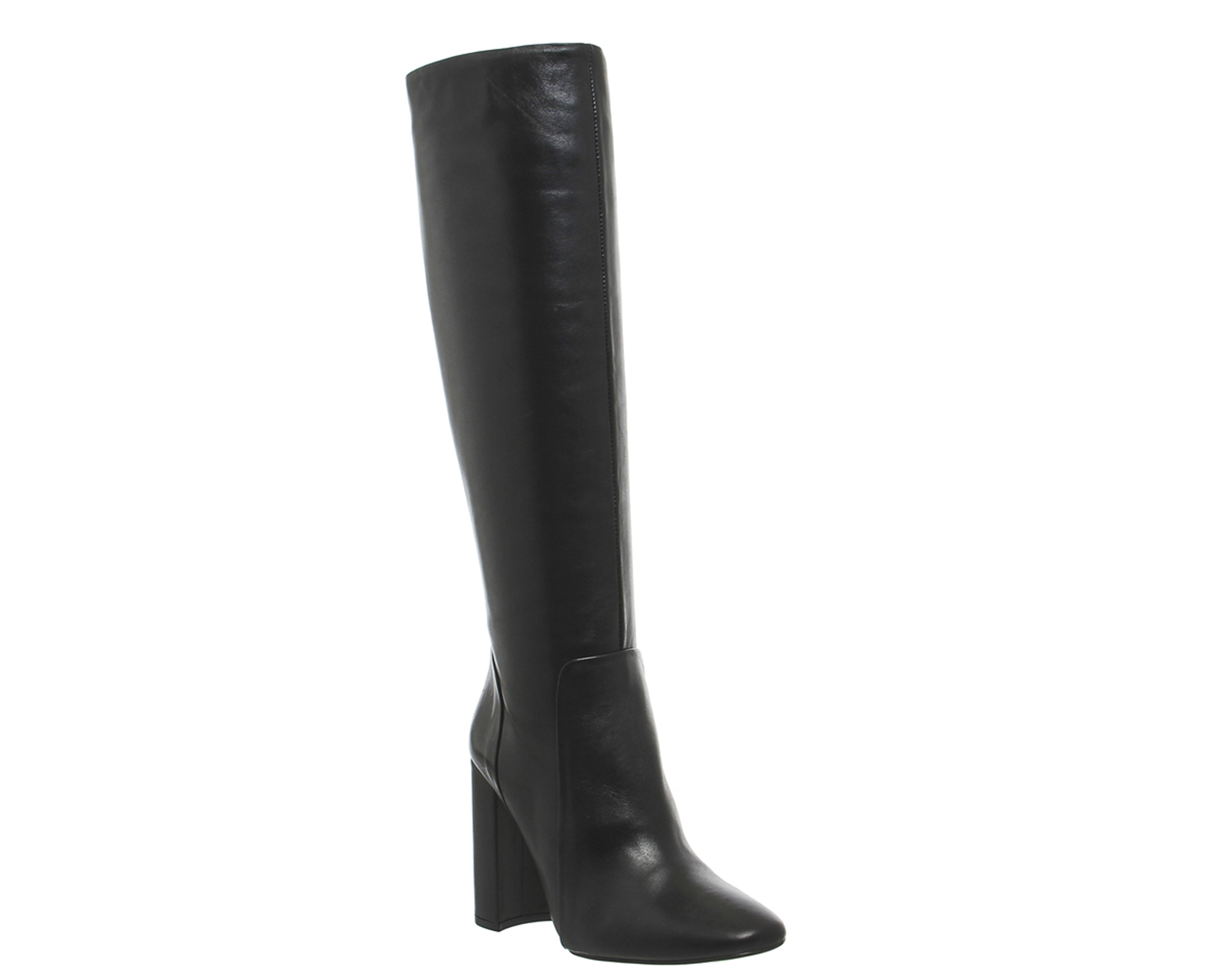 womens office eli square toe knee boots black leather
