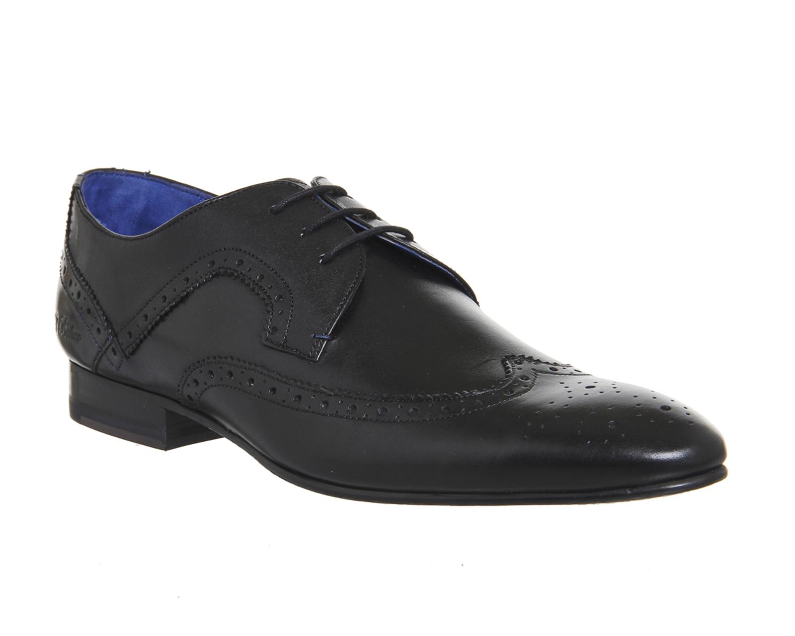 mens ted baker oakke brogues black leather formal shoes ebay