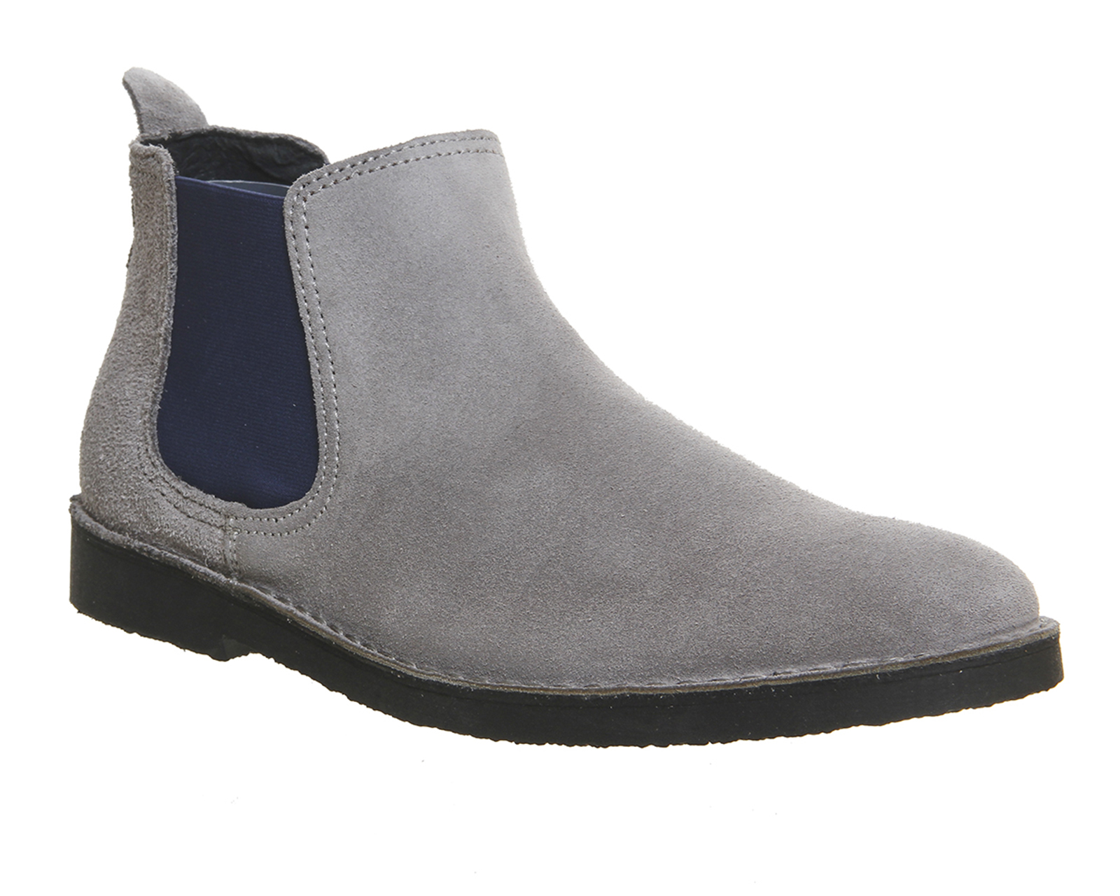 mens ask the missus chelsea boots grey suede blue