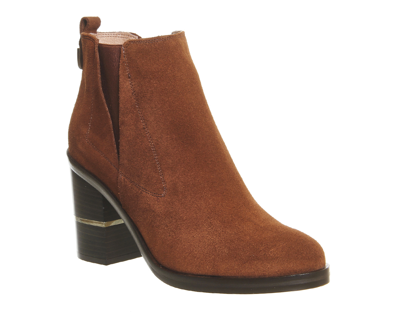 Womens-Office-Illusion-Block-Heel-Chelsea-Boots-BROWN-