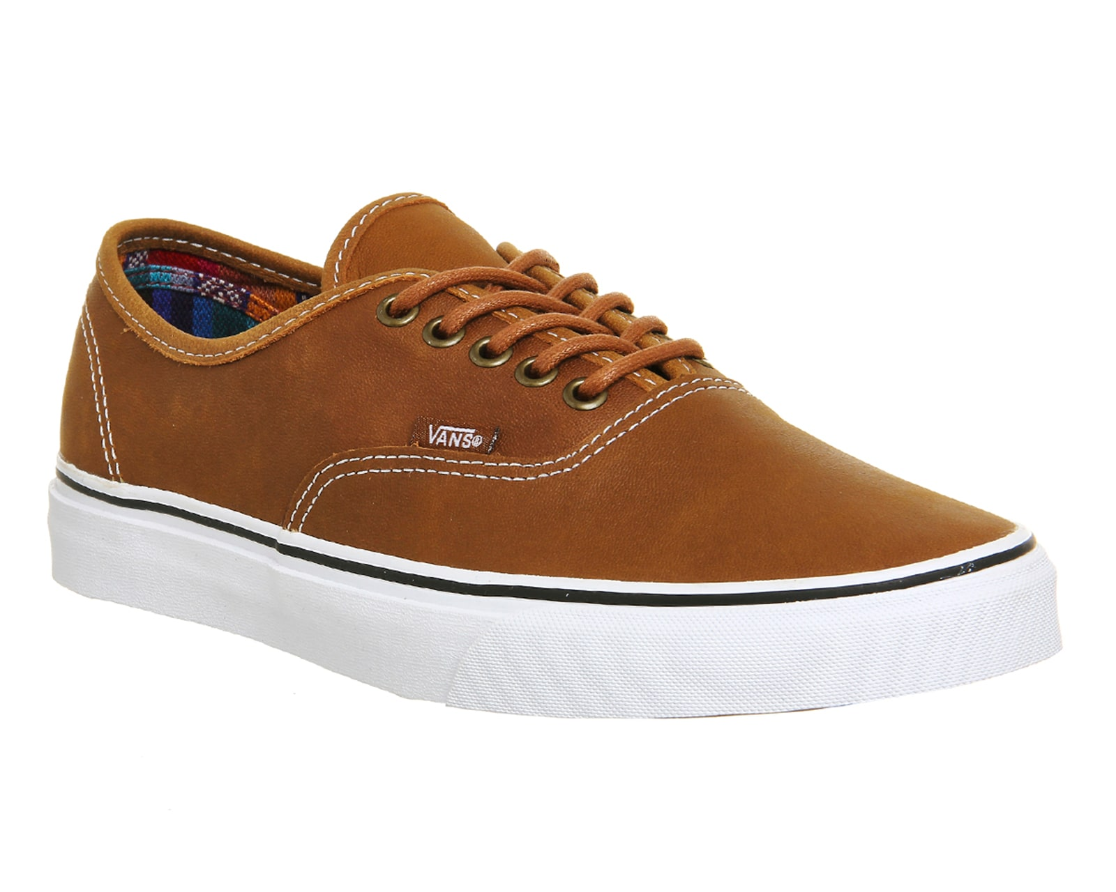 Mens Brown Leather Trainer Shoes