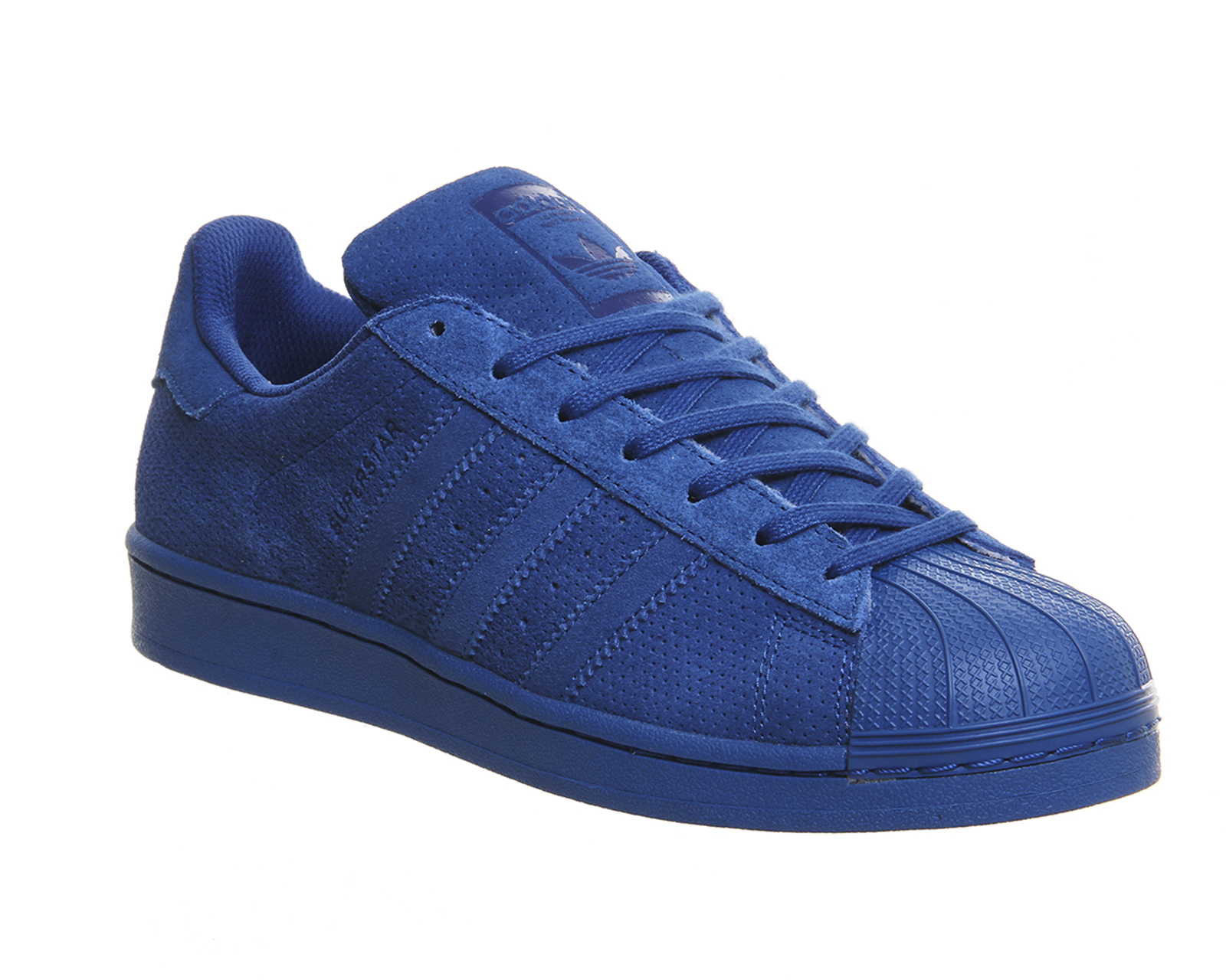 adidas superstar blu camoscio