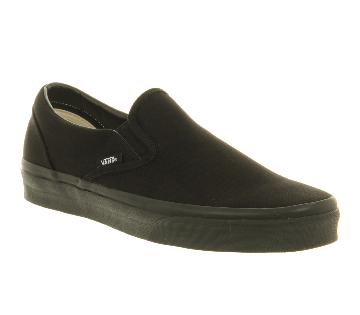 Mens-Vans-Vans-Classic-Slip-On-Black-Mono-Trainers-Shoes