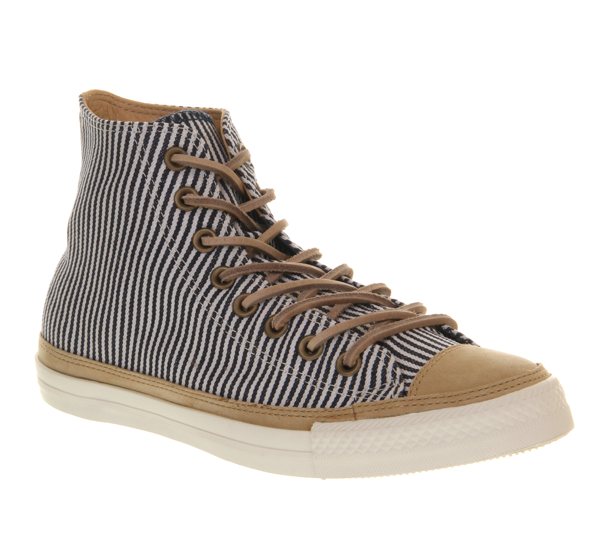 Converse-Ctas-Hi-Premium-HICKORY-STRIPE-NATURAL-LEATHER-SMU-EXCLUSIVE-Trainers-S