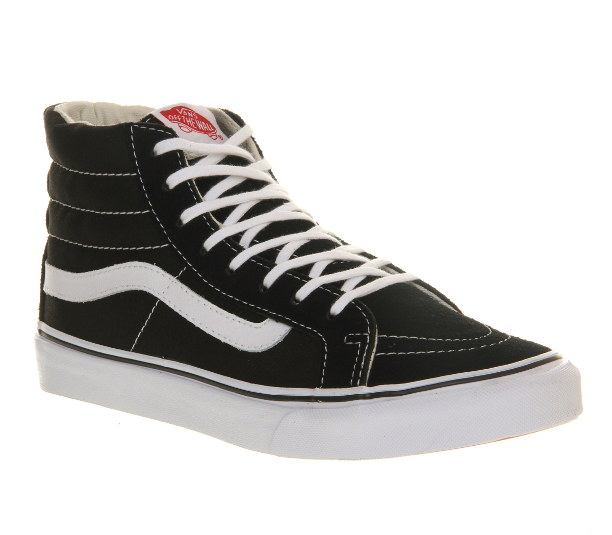 vans sk8 slim black and white