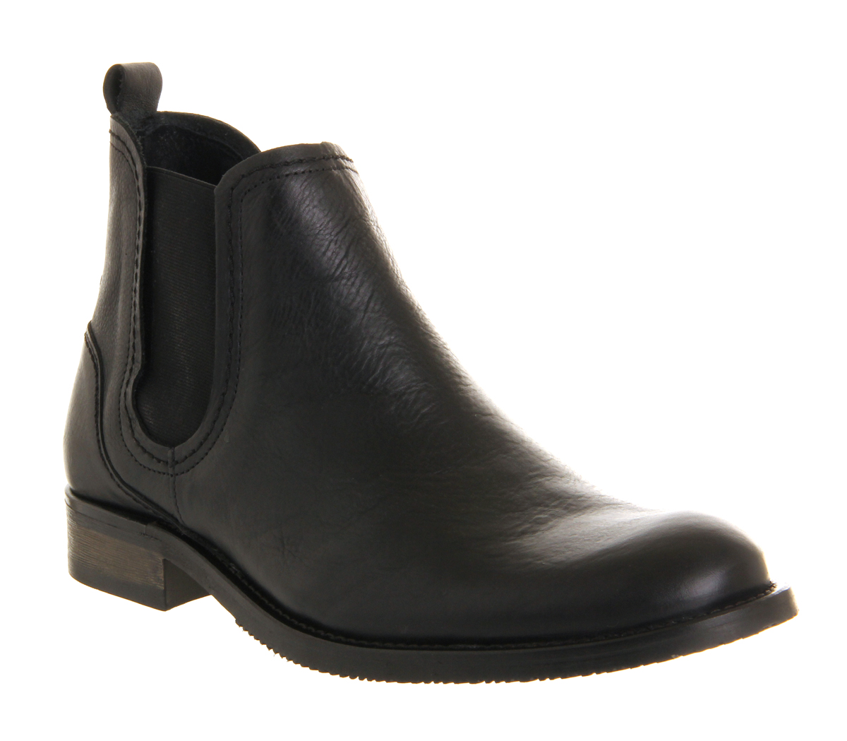 mens ask the missus gordon chelsea boot black leather