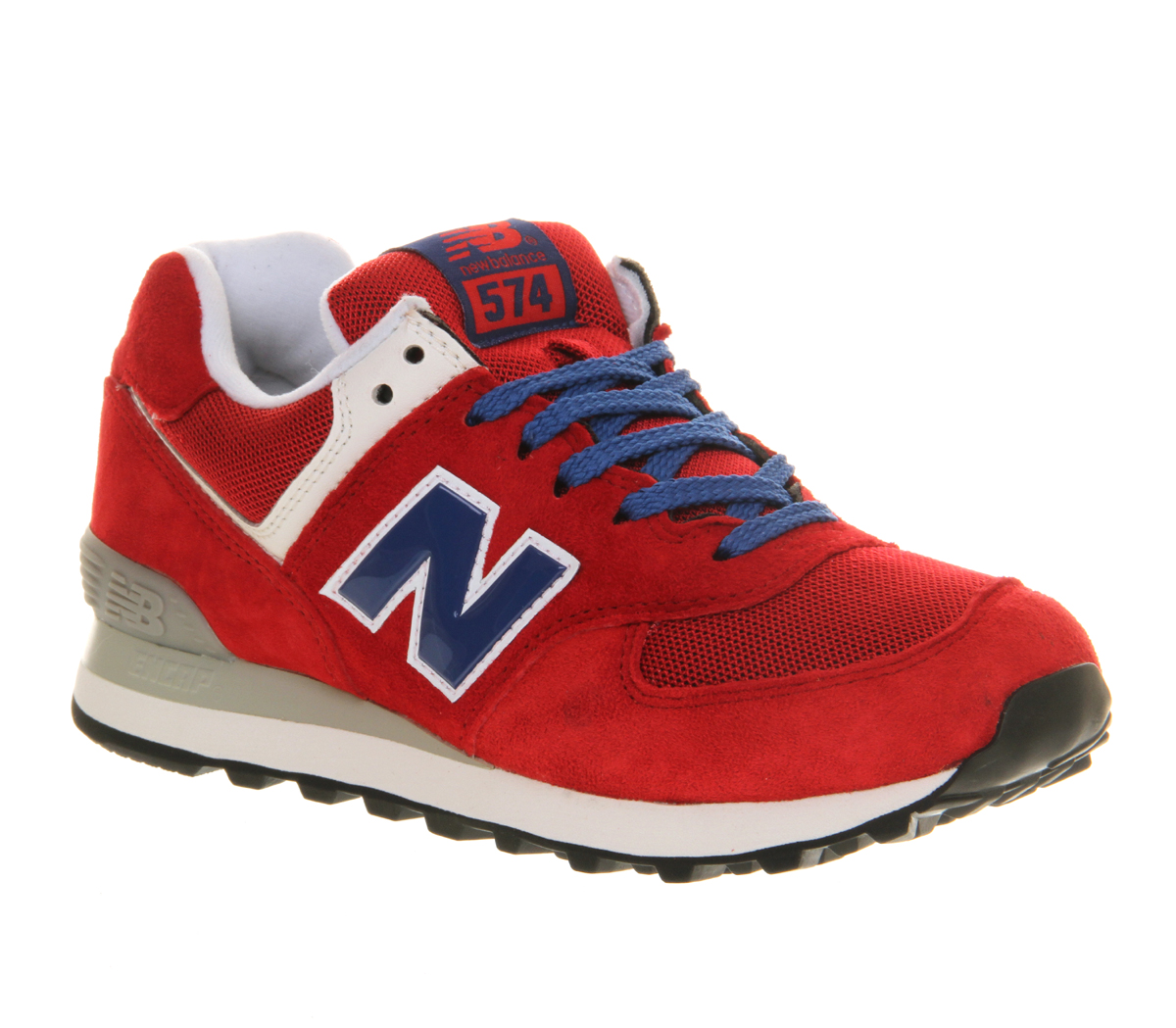new balance new balance m574 red blue exclusive trainers shoes ebay. Black Bedroom Furniture Sets. Home Design Ideas