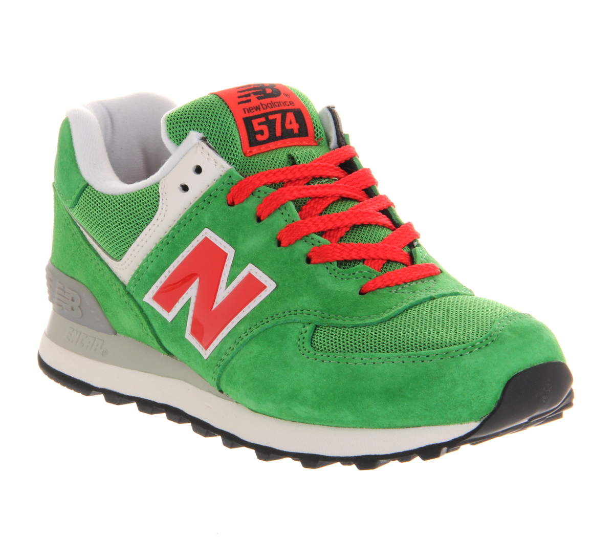 new balance new balance m574 green red exclusive trainers shoes ebay. Black Bedroom Furniture Sets. Home Design Ideas