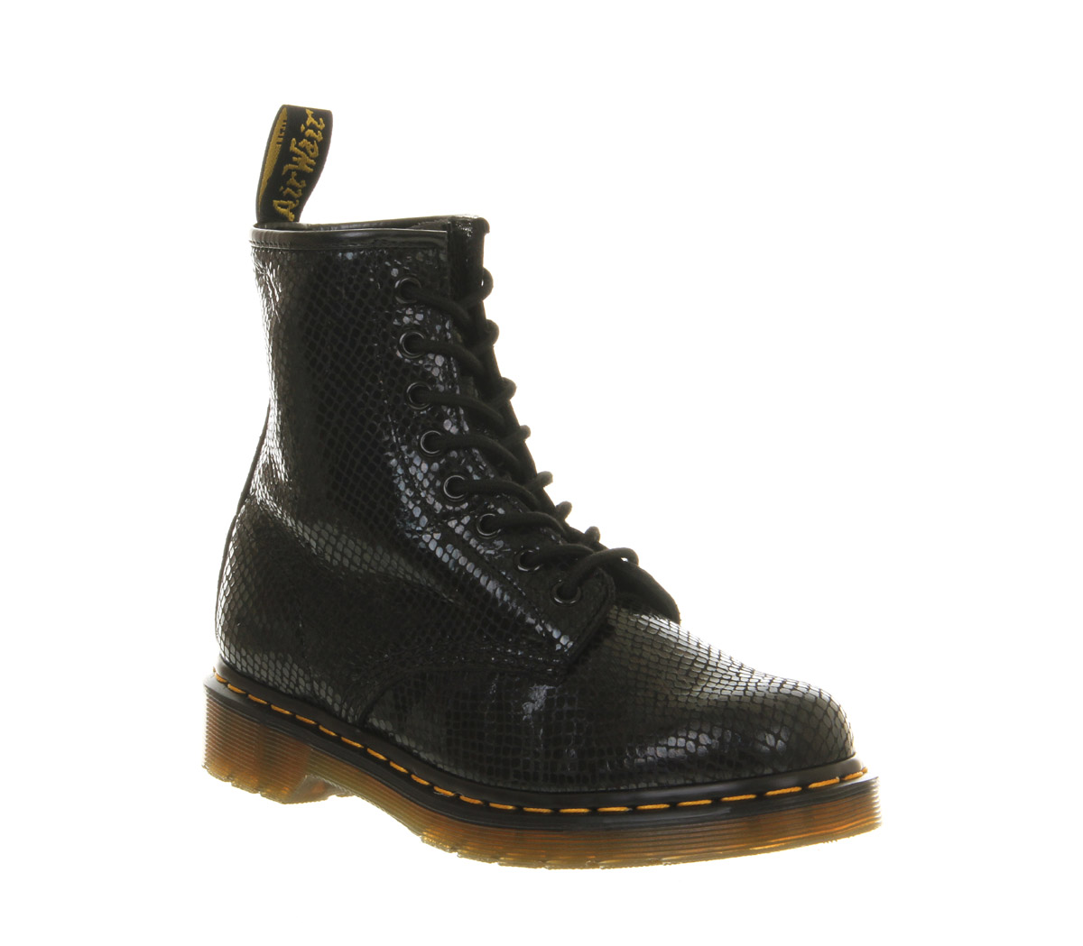 Model Marsell Womens Patent Leather LaceUp Combat Boots