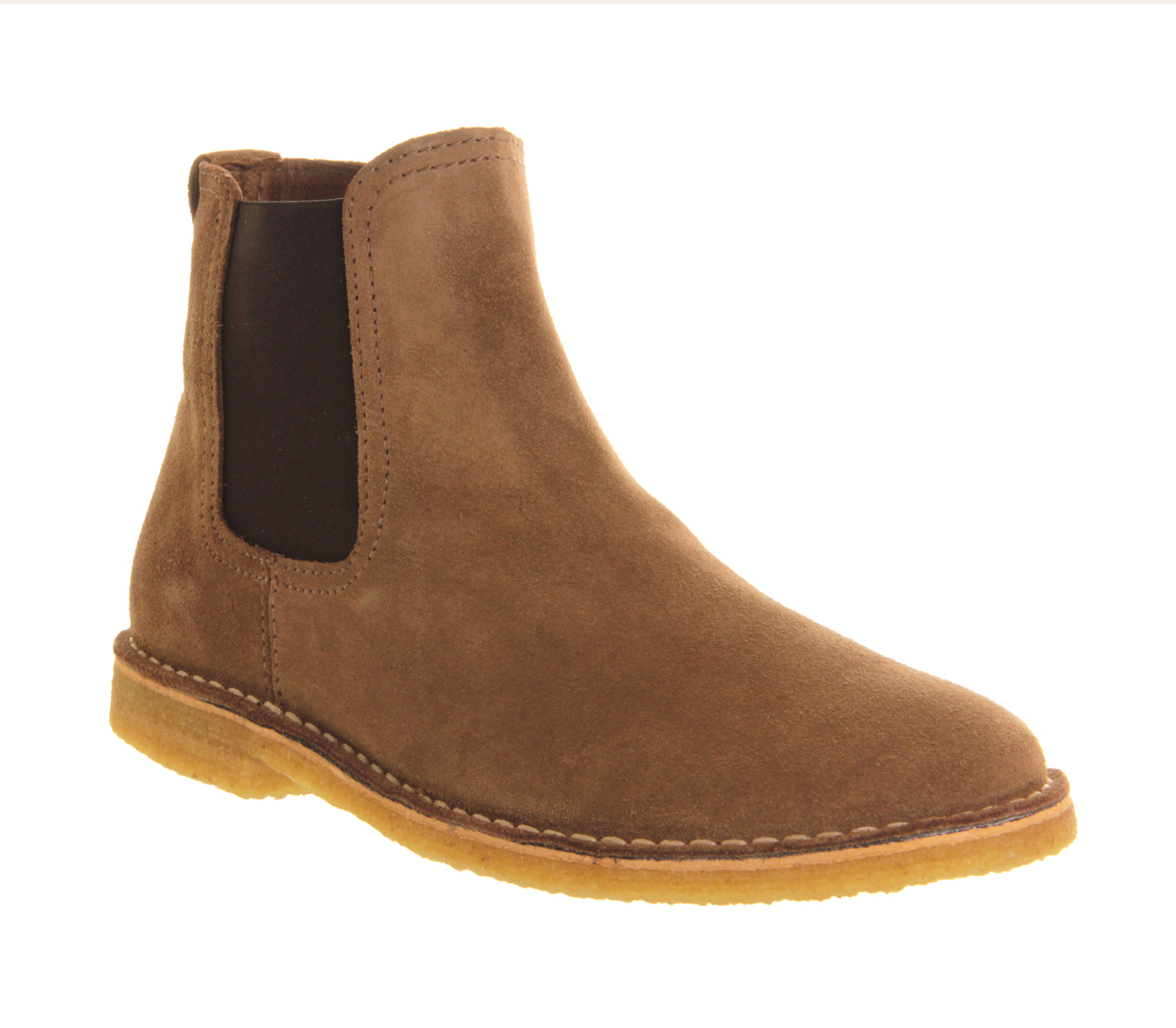 mens ask the missus cookie chelsea boot beige suede boots size 6 ebay. Black Bedroom Furniture Sets. Home Design Ideas