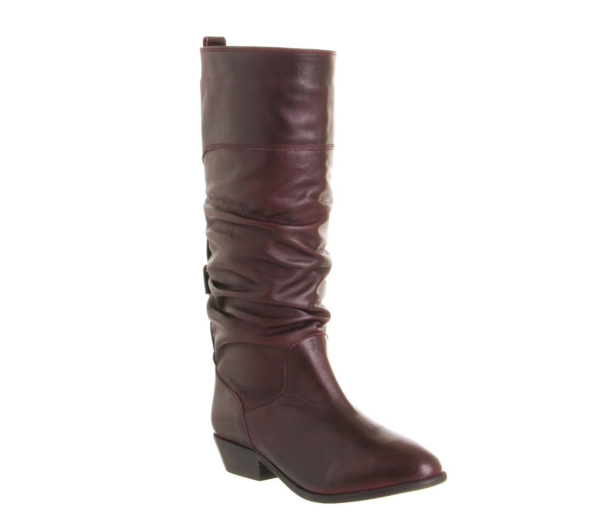 womens office ace slouch boot burgundy leather boots ebay