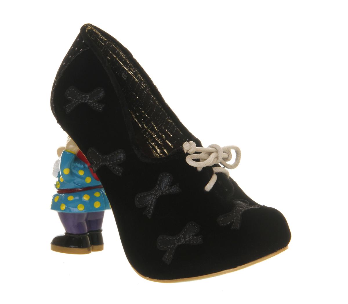 Womens-Irregular-Choice-Bashful-Brenda-Gnome-Heel-BLACK-Heels