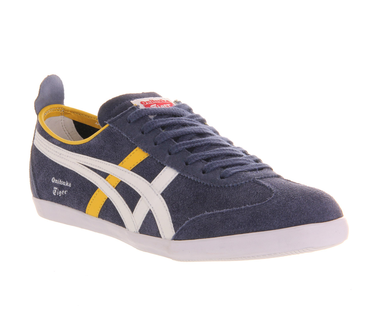 Navy Blue And Yellow Shoes