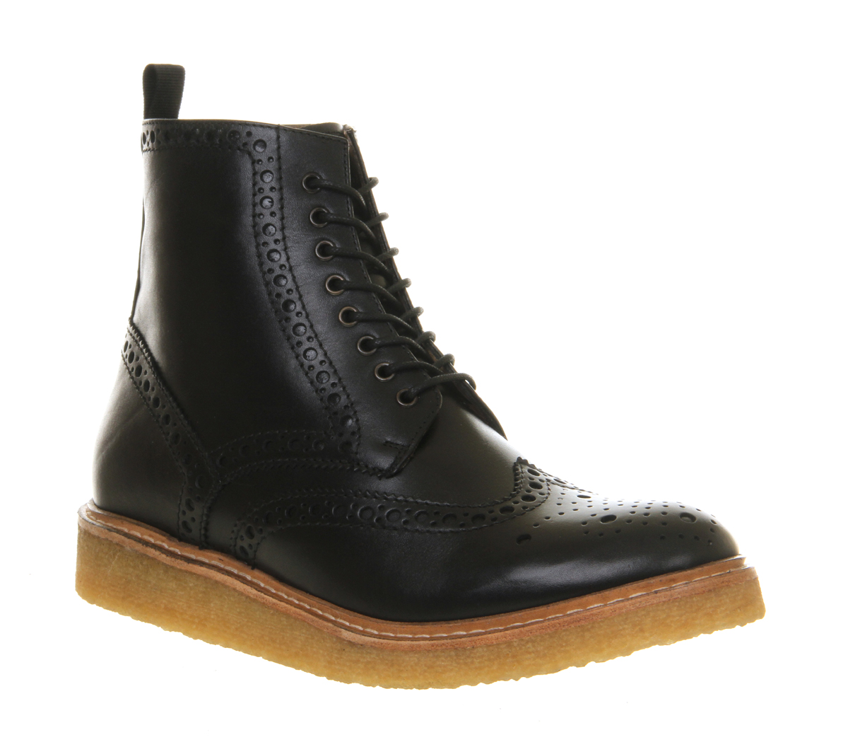 womens poste brogue boot black leather