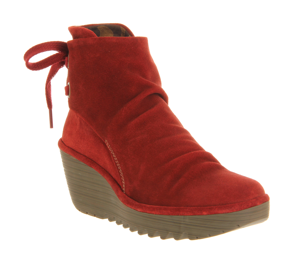 Excellent Red Suede Western Ankle Boots - Shoes U0026 Boots - Sale - Women