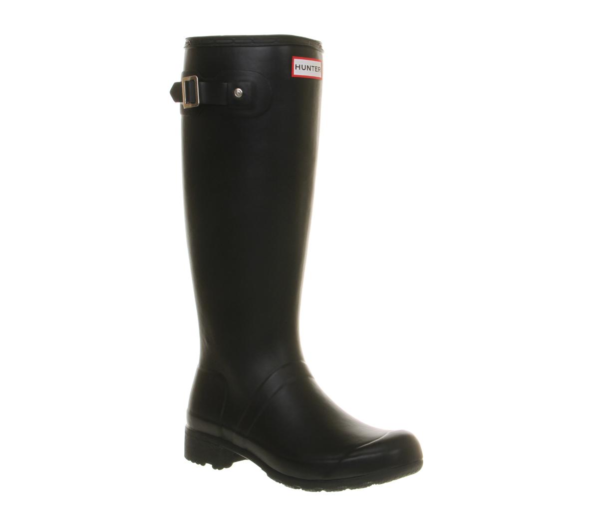 Simple Hunter Original Tall Gloss Rain Boot For Women  Fawaa