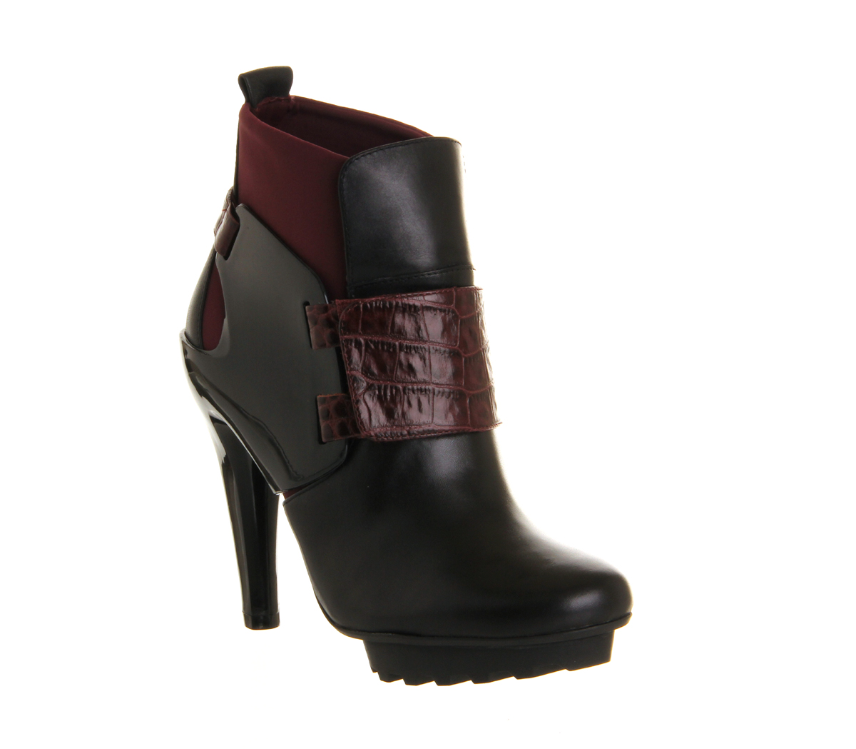 womens united nude winter eros high heel ankle boot black bordeaux boots ebay. Black Bedroom Furniture Sets. Home Design Ideas