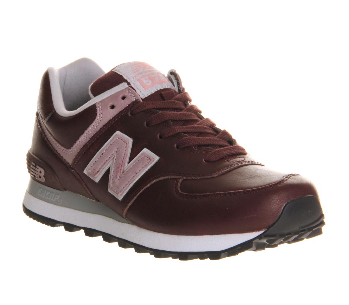 new balance wl574 burgundy trainers shoes ebay. Black Bedroom Furniture Sets. Home Design Ideas