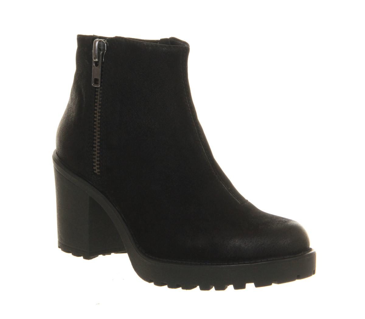 womens vagabond grace zip boot black nubuck boots ebay. Black Bedroom Furniture Sets. Home Design Ideas