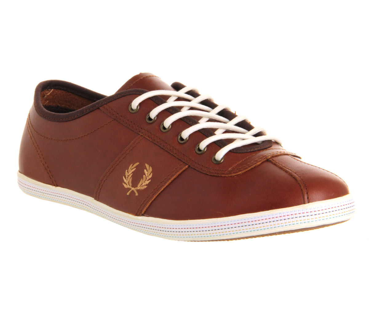 Fred Perry Hayes BRADLEY WIGGINS CHOCOLATE BRASS LEATHER Trainers Shoes   eBay
