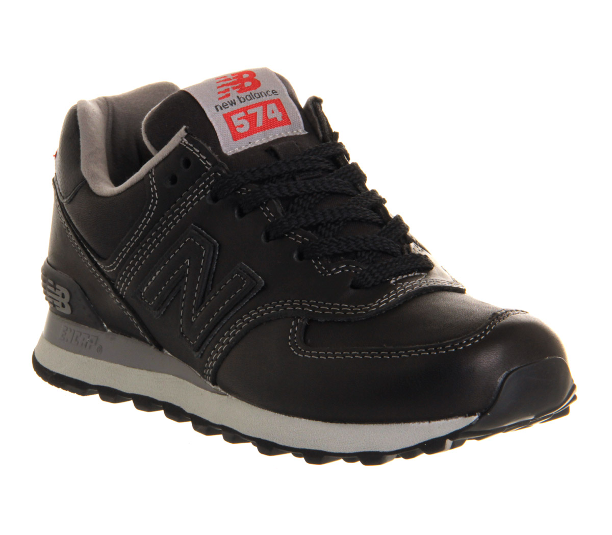 New-Balance-New-Balance-M574-BLACK-LEATHER-Trainers-Shoes