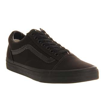 Mens-Vans-Old-Skool-BLACK-Trainers-Shoes