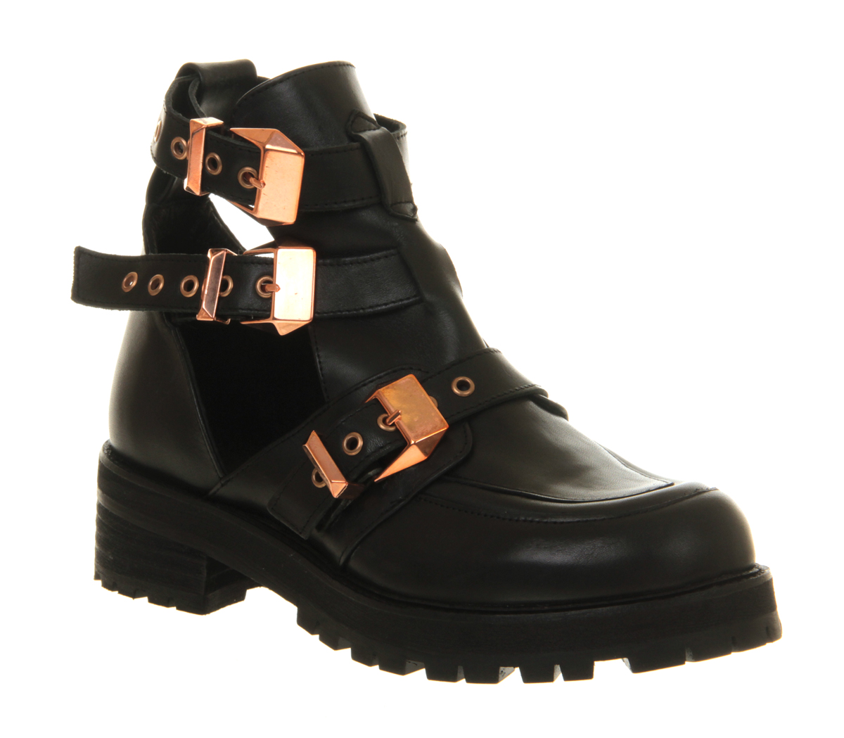 womens office ultimate black gold leather boots ebay