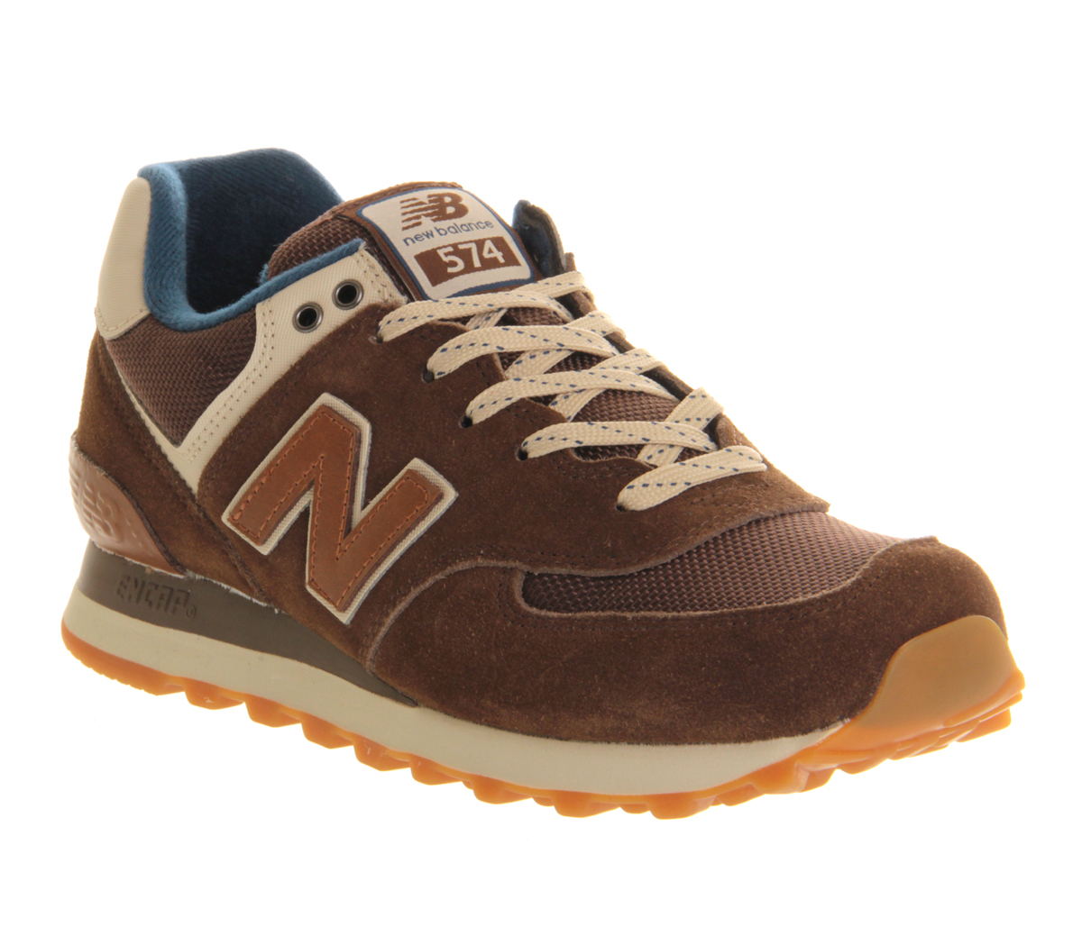 new balance new balance m574 brown navy trainers shoes ebay. Black Bedroom Furniture Sets. Home Design Ideas