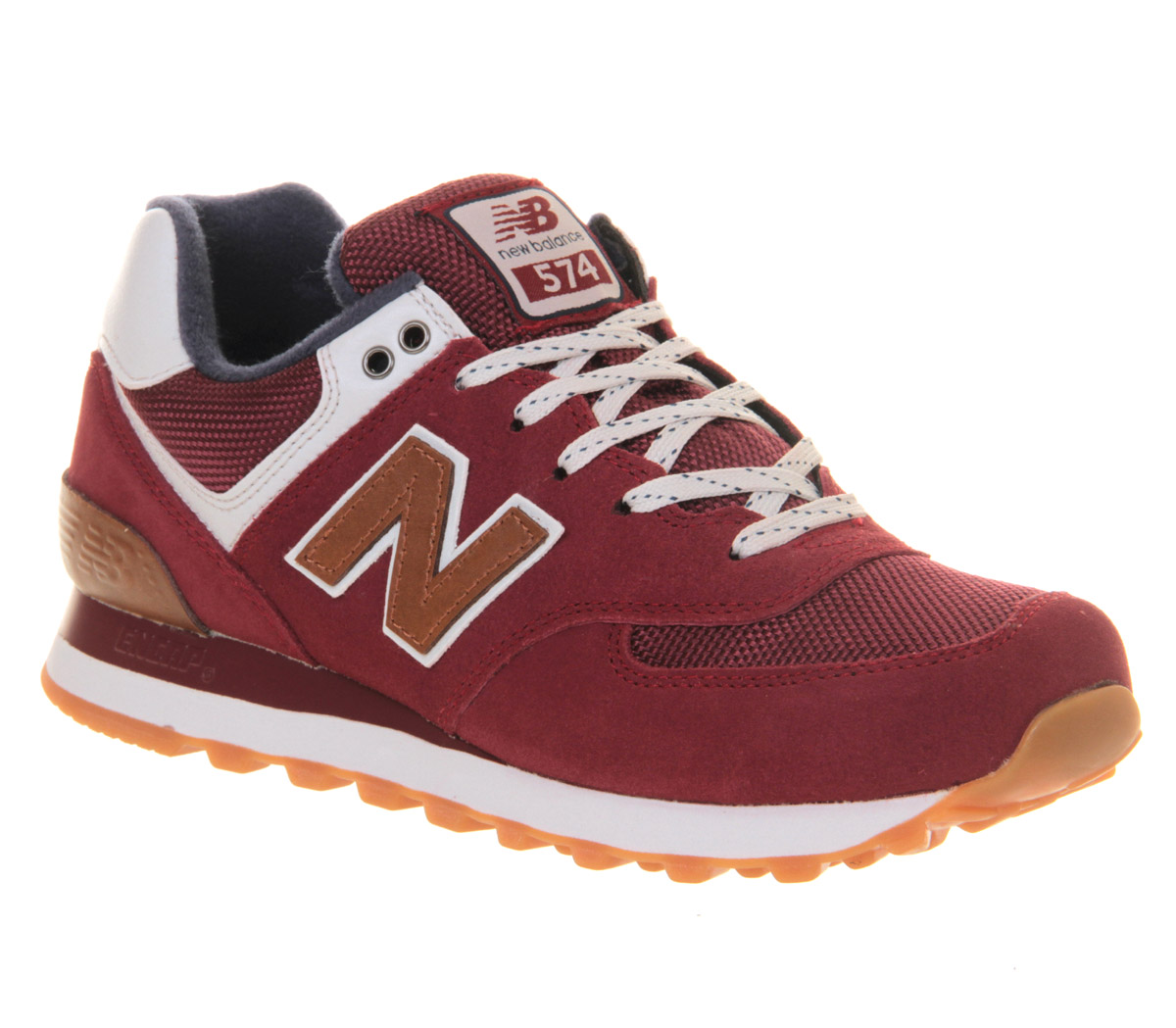 New-Balance-New-Balance-M574-MAROON-NAVY-BROWN-Trainers-Shoes