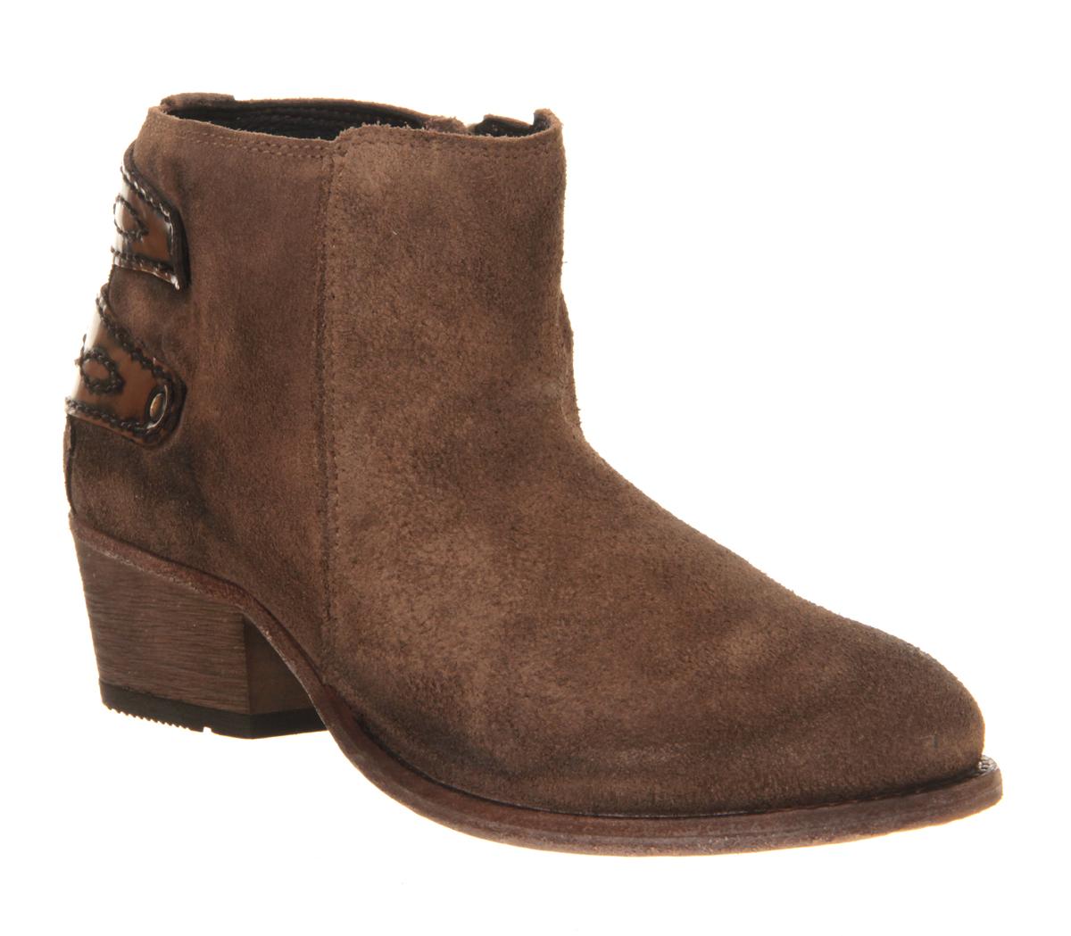 womens h by hudson rosse ankle boot beige suede boots ebay. Black Bedroom Furniture Sets. Home Design Ideas