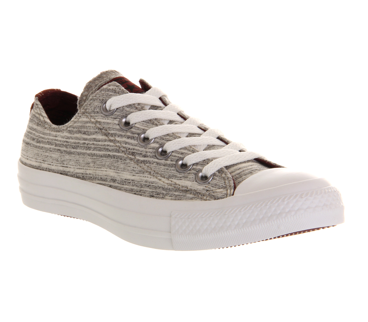 Mens-Converse-Converse-All-Star-Low-FLECKED-GREY-MARL-BURGUNDY-EXCLUSIVE-Trainer