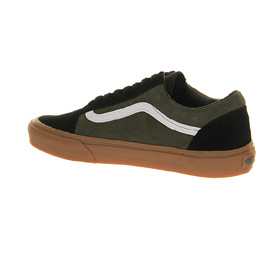 vans old skool green gum sole