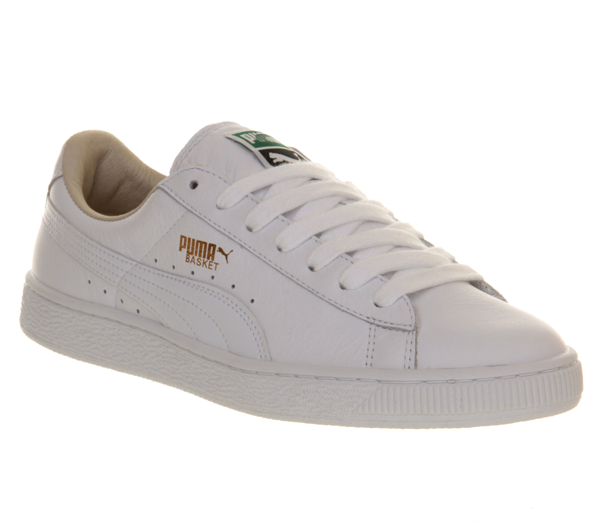 puma basket leather trainers