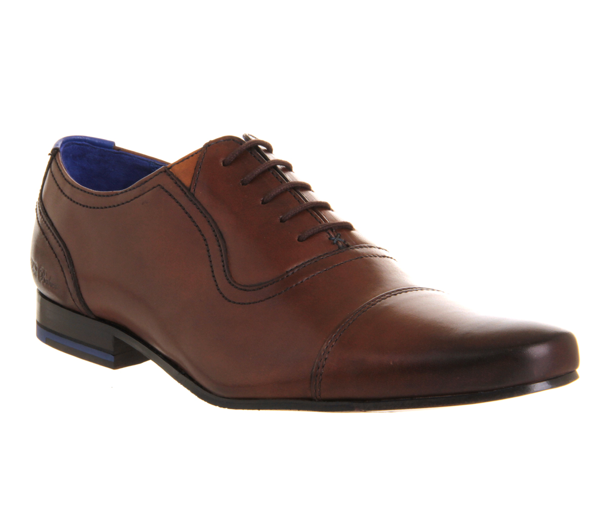 mens ted baker rogrr toe cap brown leather formal shoes ebay