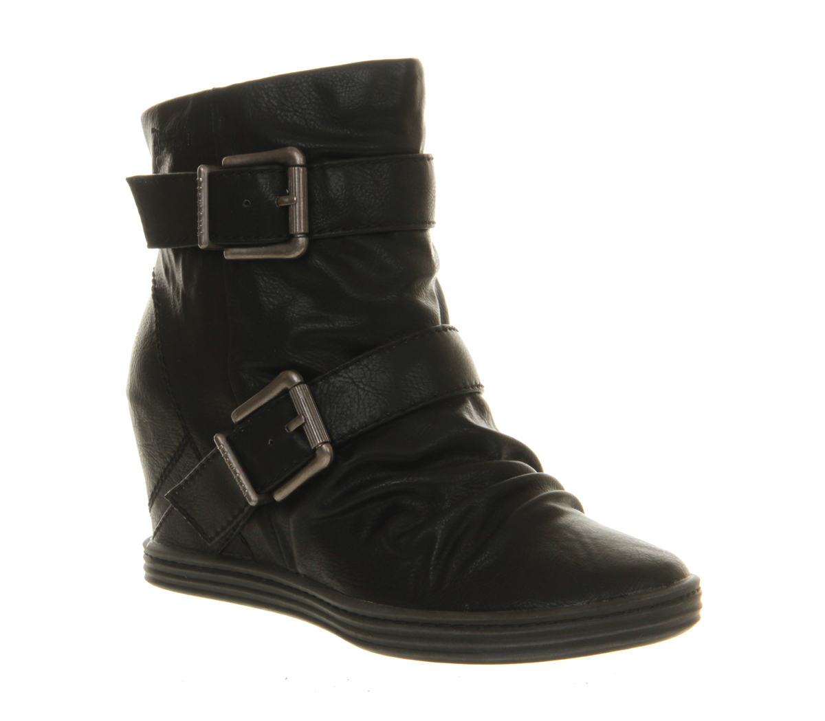 Womens-Blowfish-Tugo-Wedge-Sneaker-BLACK-OLD-SADDLE-Boots
