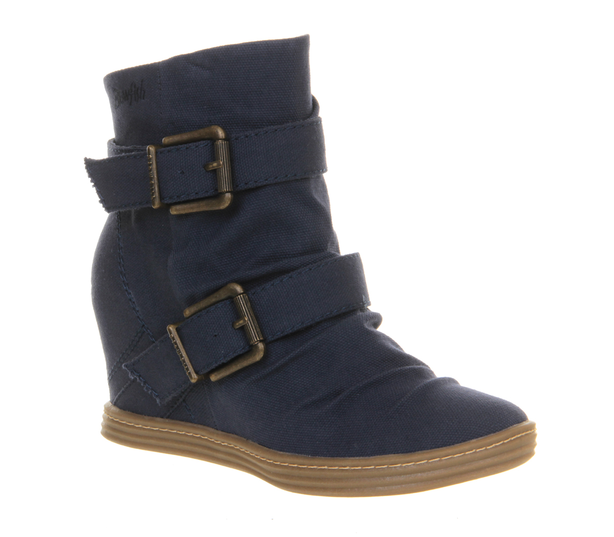 Womens-Blowfish-Tugo-Wedge-Sneaker-NAVY-CANVAS-Boots