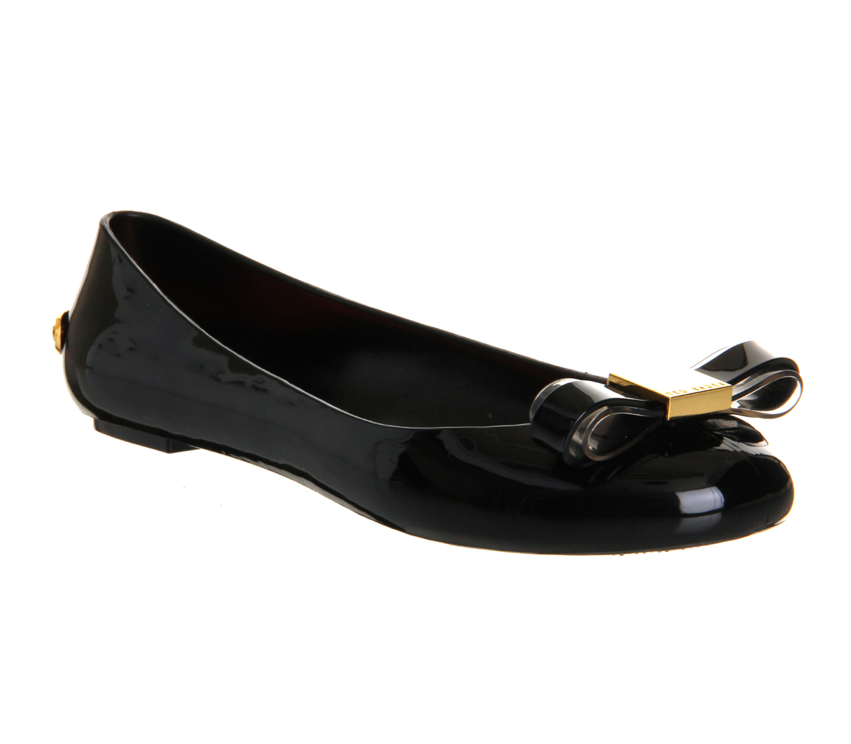 Flat Jelly Shoes Black