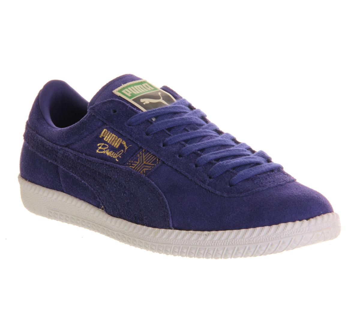 Unisex-Puma-Brazil-SPECTRUM-BLUE-SUEDE-Trainers-Shoes