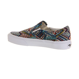 vans abstract classic slip-on womens