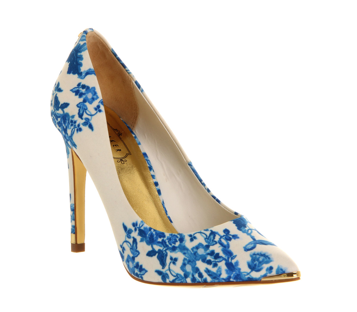 Womens Ted Baker Luceey High Heel BLUE SATIN Heels | eBay