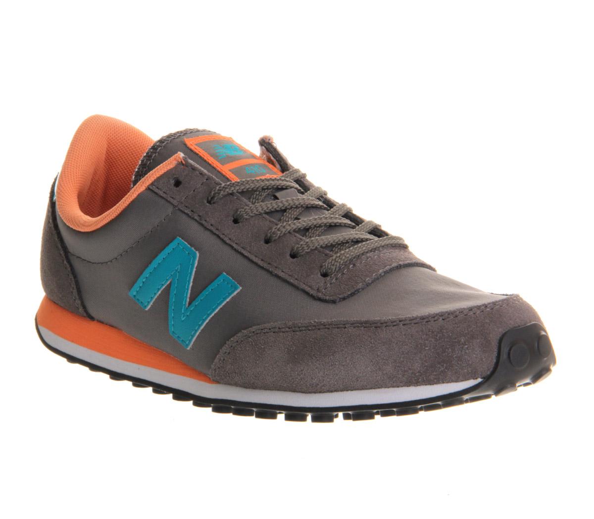 mens new balance 410 charcoal blue orange st trainers. Black Bedroom Furniture Sets. Home Design Ideas