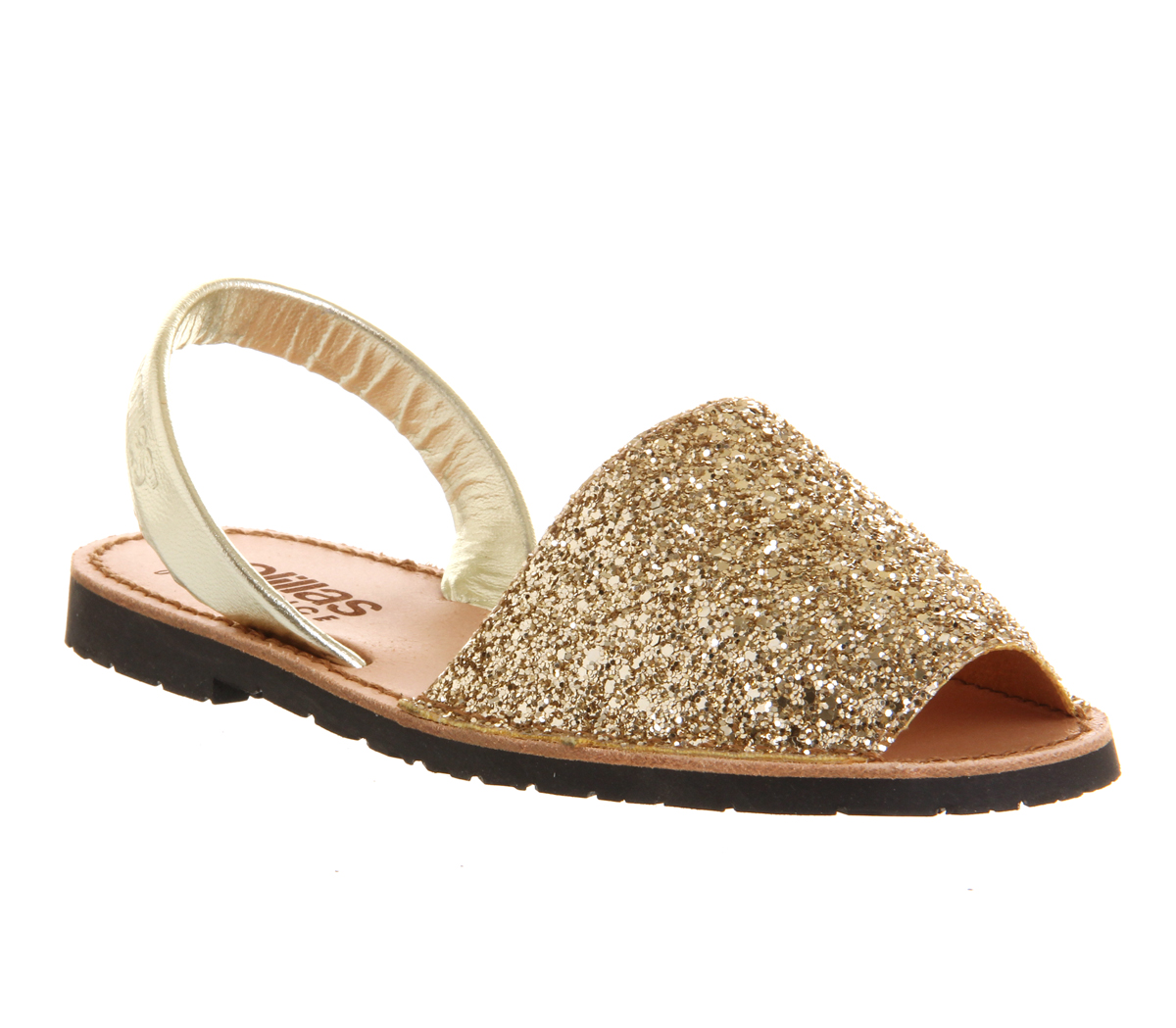 Womens Gold Leisure Shoes