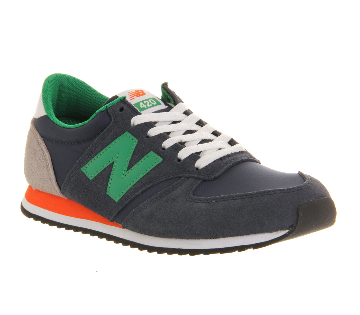 new balance u420 navy green orange trainers shoes ebay. Black Bedroom Furniture Sets. Home Design Ideas